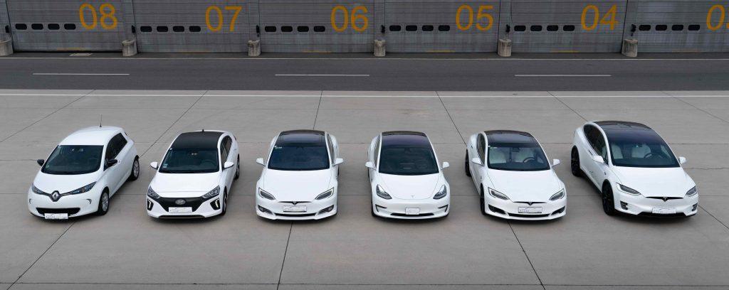 unsere Elektrofahrzeuge von Renault ZOE bis Tesla